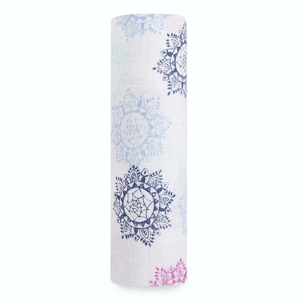 Image of Aden by Aden + Anais Muslin Swaddle - Pretty Pink - Gray, Pink White Blue