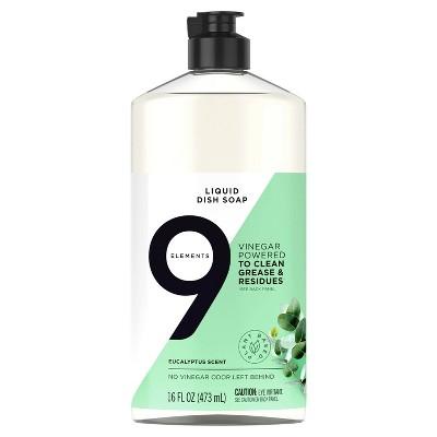 9 Elements Liquid Dish Soap - Eucalyptus - 16 fl oz