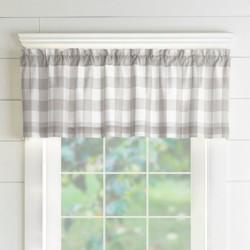"Farmhouse Living Buffalo Check Window Valance - 60"" x 15"" - Elrene Home Fashions"