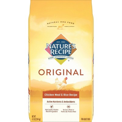 Nature's Recipe Original Chicken Meal & Rice Recipe Adult Dry Dog Food - 4.5lbs