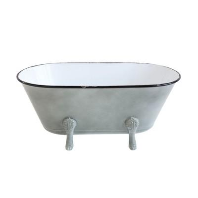 Decorative Container Footed Bathtub - Gray - 3R Studios