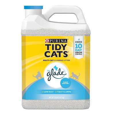 Purina Tidy Cats with Glade Tough Odor Solutions Multiple Cats Clumping Litter
