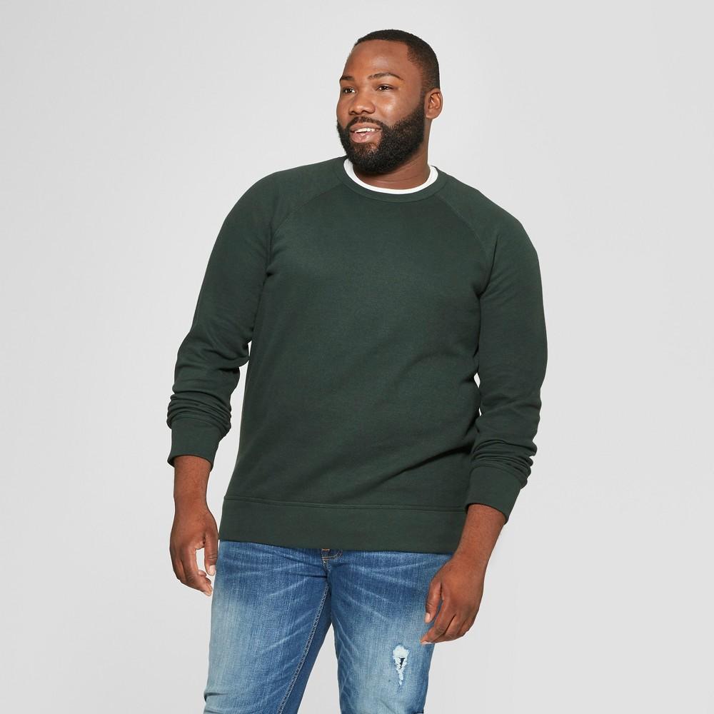 Men's Tall Standard Fit Long Sleeve Waffle Thermal T-Shirt - Goodfellow & Co Forest Green Xlt