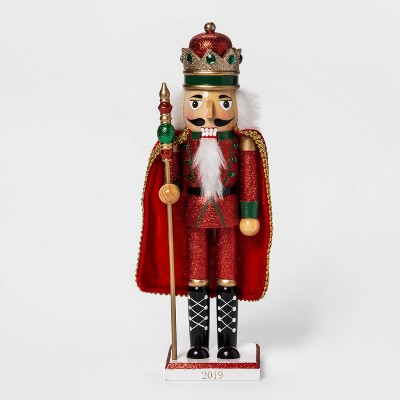 "14.5"" X 3.5"" Traditional Nutcracker With Cape Red   Wondershop™ by Wondershop"