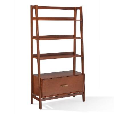 """70"""" Landon Large Bookcase Mahogany - Crosley"""