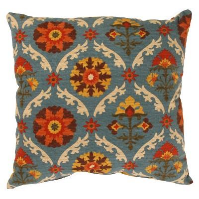 Turquoise Mayan Medallion Throw Pillow Adobe (18 x18 )- Pillow Perfect