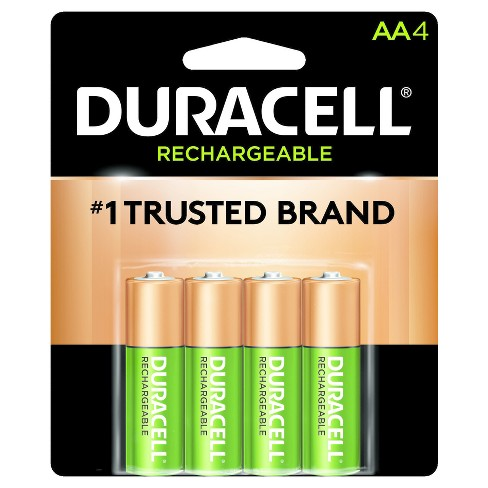Duracell Rechargeable Aa Batteries 4 Ct Target