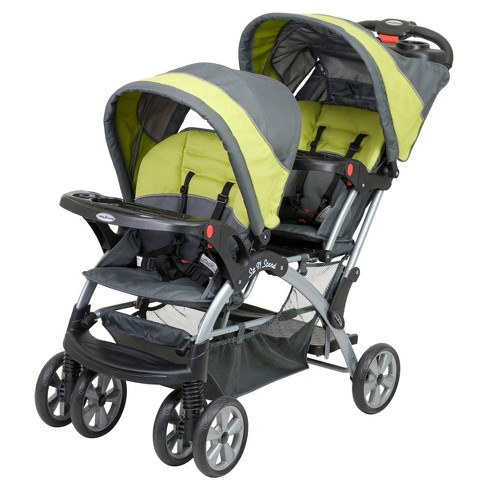 Baby Trend Sit N' Stand Double Stroller - Carbon - image 1 of 4