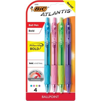 Bic Velocity 4ct Asst. Ballpoint Retractable Pen
