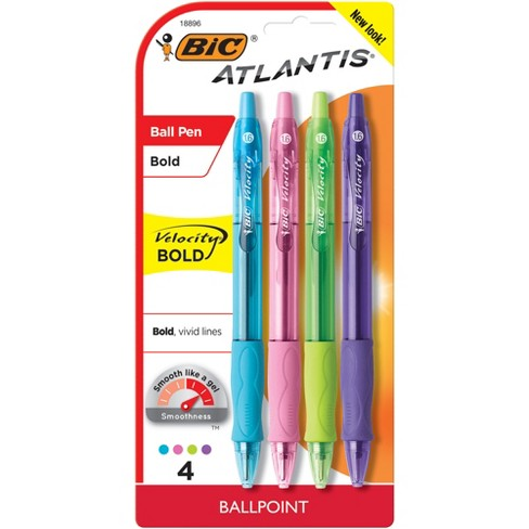 Bic Velocity 4ct Asst. Ballpoint Retractable Pen - image 1 of 4