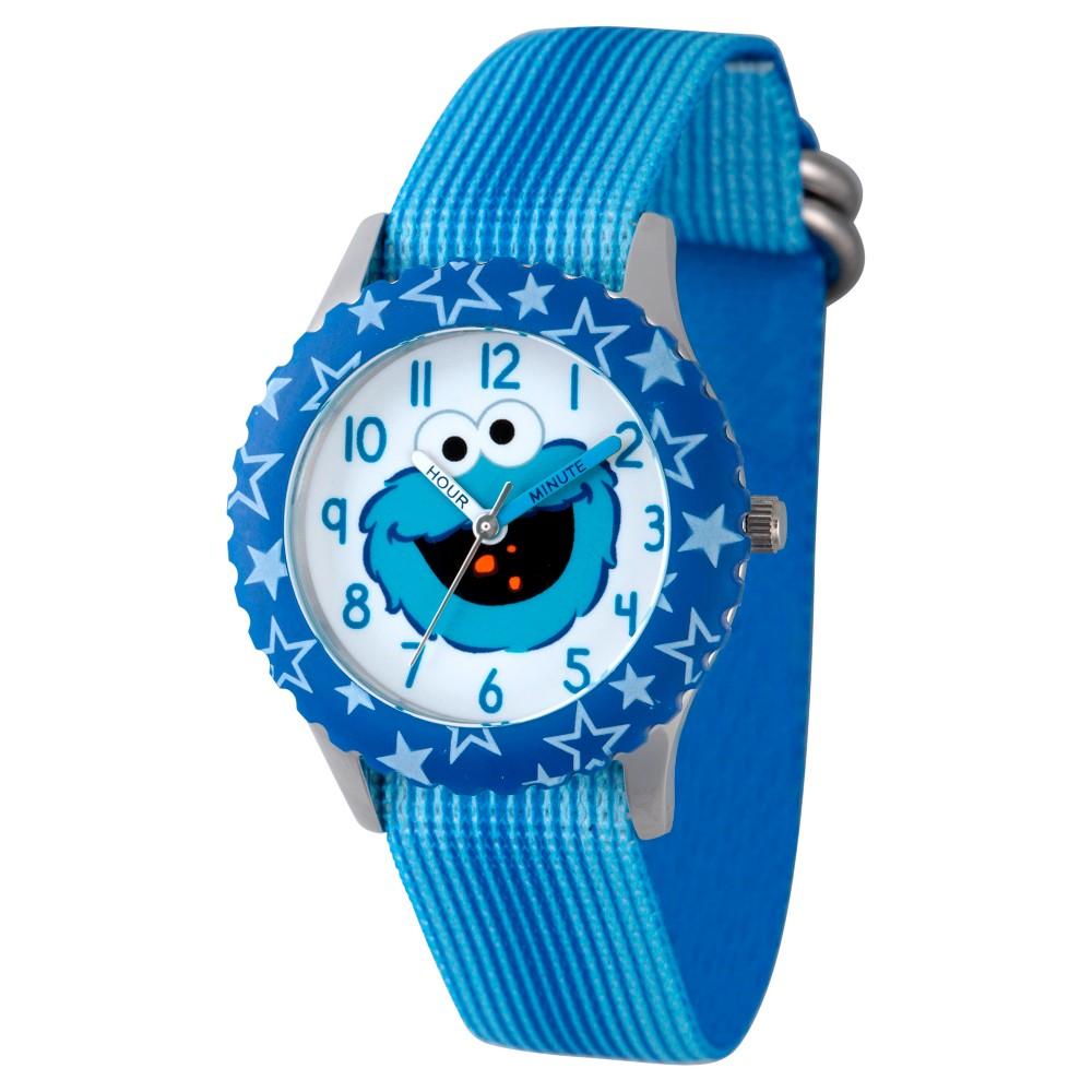 Boys' Sesame Street Stainless Steel Time Teacher Watch - Blue