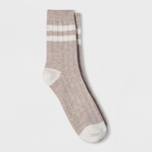 Women's Crew Striped Boot Socks - Universal Thread™ One Size - image 1 of 1