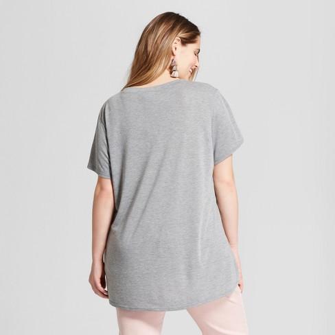 75d9ddd1 Women's Plus Size Avocado-Holic Short Sleeve Crew Neck T-Shirt - Modern Lux  (Juniors') - Heather Gray : Target
