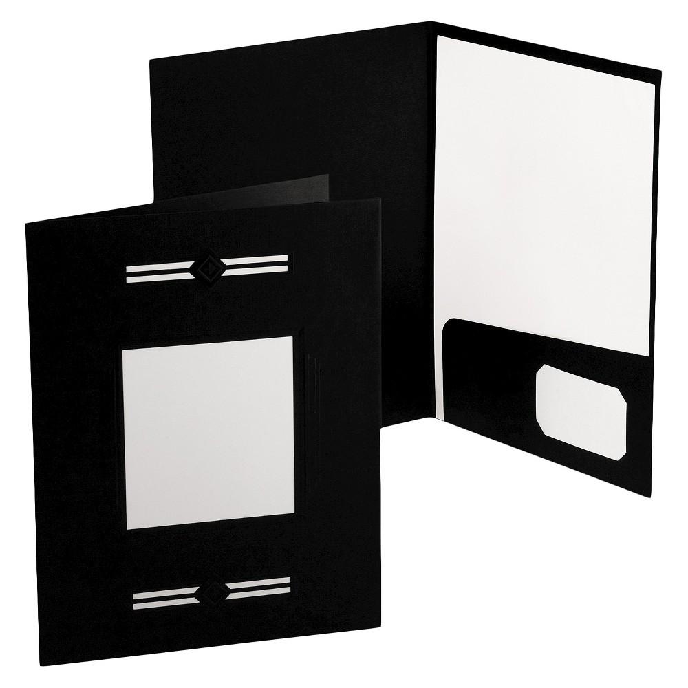 Oxford Imperial Series Laserview Business Portfolio Premium Paper Folder Black 10/Pack