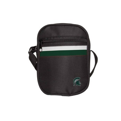 NCAA Michigan State Spartans Black Mini Messenger Bag