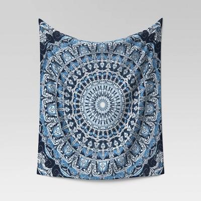 Medallion Printed Tapestry Blue - Opalhouse™