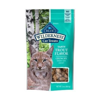 Blue Buffalo Wilderness Grain Free Trout Flavor Crunchy Cat Treats - 2oz