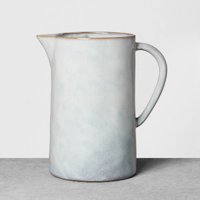 Stoneware Reactive Pitcher Blue - Hearth & Hand™ with Magnolia