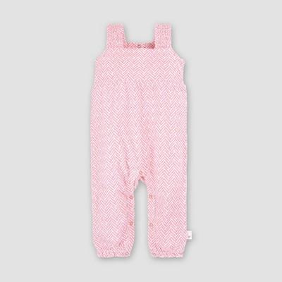 Burt's Bees Baby® Baby Girls' Organic Cotton World Chevron Jumpsuit - Pink 12M