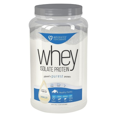 Integrated Supplements Whey Isolate Protein Powder - Vanilla - 1.85lb - image 1 of 3