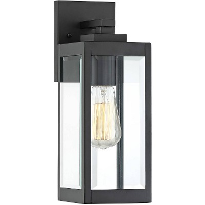 """Quoizel Westover 14 1/4"""" High Earth Black Outdoor Wall Light"""