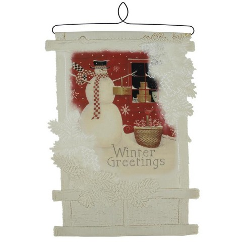 Heritage Lace 20 Country Rustic Winter Greetings Decorative