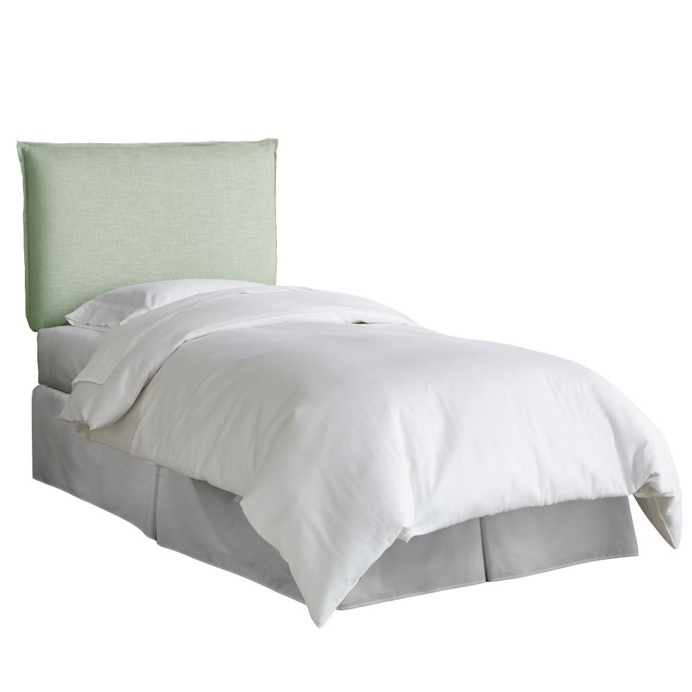 Kid's French Seam Linen Upholstered Headboard Twin Linen Swedish Blue - Pillowfort