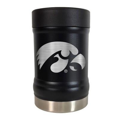 NCAA Iowa Hawkeyes 12oz Black Stealth Can Holder