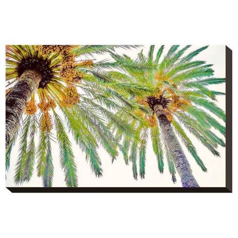Chic Palms Ii By Acosta Stretched Wall Canvas Print - Art.com - image 1 of 3
