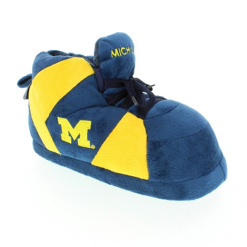 83a2cebd754d2 NCAA Michigan Wolverines Adult Comfy Feet Sneaker Slippers - Blue Yellow