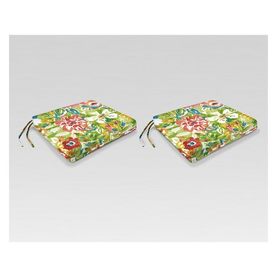 Outdoor Set of 2 French Edge Seat Cushions - Jordan Manufacturing