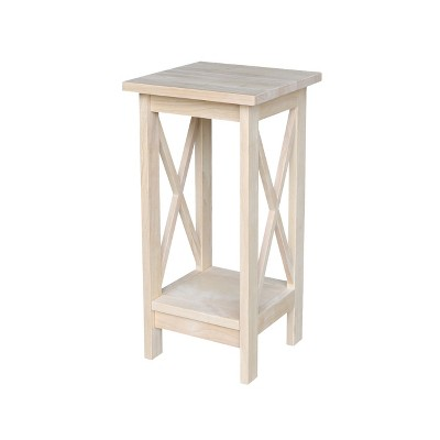 X-Sided Plant Stand Unfinished - International Concepts
