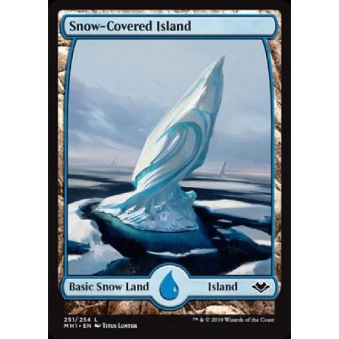 5x MTG Magic the Gathering MODERN HORIZONS MH1 SNOW COVERED LAND