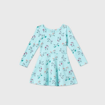 Toddler Girls' Knit Long Sleeve Dress - Cat & Jack™
