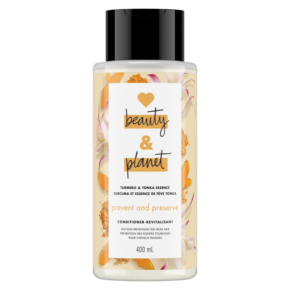 Image of Love Beauty & Planet Turmeric and Tonka Essence Prevent and Preserve Conditioner - 13.5 fl oz