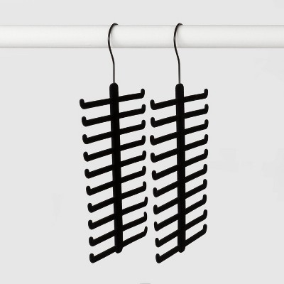 2pk Tie & Belt Hanger Black - Made By Design™