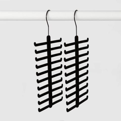 2pk Tie and Belt Hanger Black - Made By Design™ - image 1 of 3