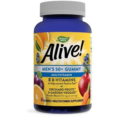 Nature's Way Alive! Men's 50+ Multivitamin Gummies - 60ct
