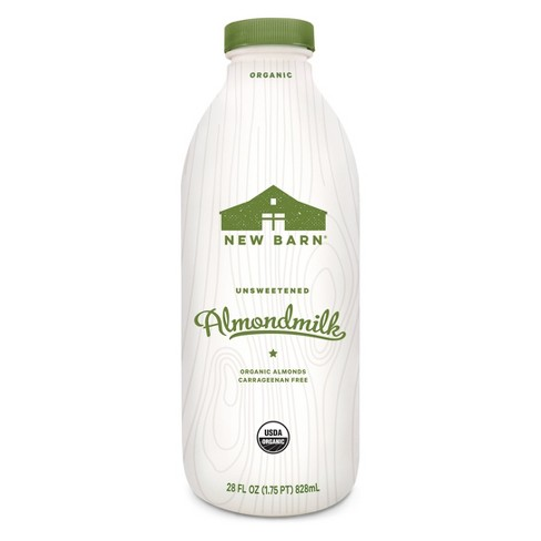New Barn Organic Unsweetened Almond Milk Substitute - 28 fl oz - image 1 of 1