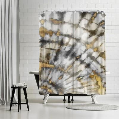 "Americanflat Neutral Tye Dye I Neutral Version by Pi Creative Art 71"" x 74"" Shower Curtain"