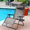 Oversized Zero Gravity Chair with Sunshade in Brown Mesh - Jeco Inc. - image 2 of 2