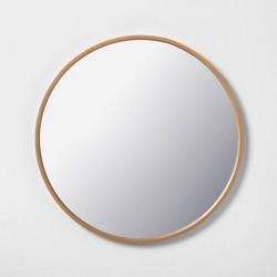 "30"" Round Large Mirror - Wood - Hearth & Hand™ with Magnolia"