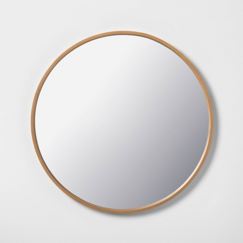 "30"" Round Large Mirror - Wood - Hearth & Hand™ with Magnolia - image 1 of 4"