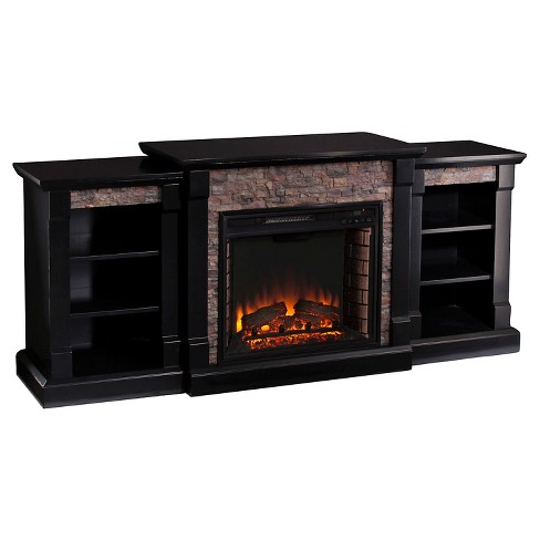 Gilman Electric Fireplace with Bookcases - image 1 of 5