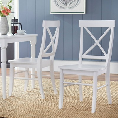 Set of 2 Albury Dining Chairs White - Buylateral