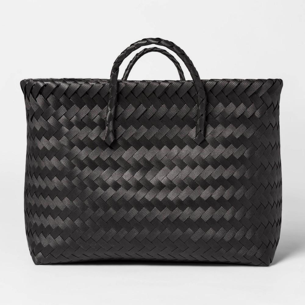 Large Woven Rectangular Storage Basket Black Room Essentials 8482