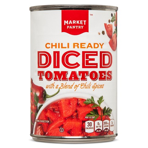 Chili Ready Diced Tomatoes - 14.5oz - Market Pantry™ - image 1 of 1