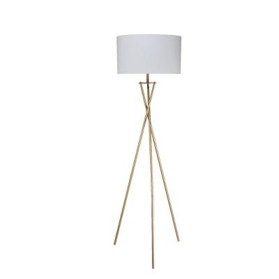 Ester Matte Metal Floor Lamp Gold (Lamp Only)- Ore International