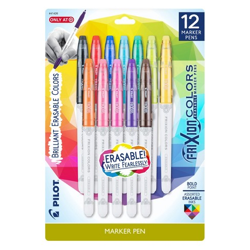 Pilot 12ct Frixion Colors Erasable Marker Pens Bold Point Assorted Ink Colors