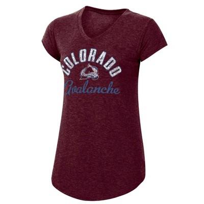 NHL Colorado Avalanche Women's Team Pride V-Neck T-Shirt - L
